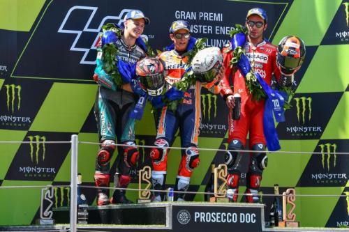 Fabio Quartararo, Marc Marquez dan Danilo Petrucci (Foto: MotoGP)