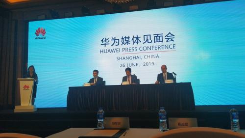 Huawei mengungkap teknologi 5G dan skenario pemanfaatannya di event Mobile World Congress (MWC) 2019 di Shanghai, China.