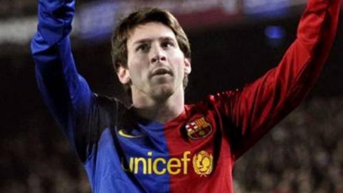 Lionel Messi sudah berkostum Barcelona selama 14 tahun