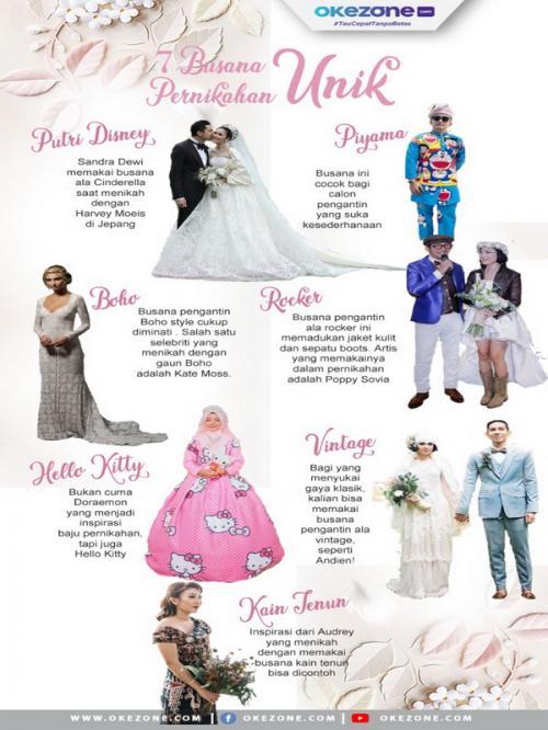 Busana resepsi pernikahan unik dari berbagai penjuru dunia