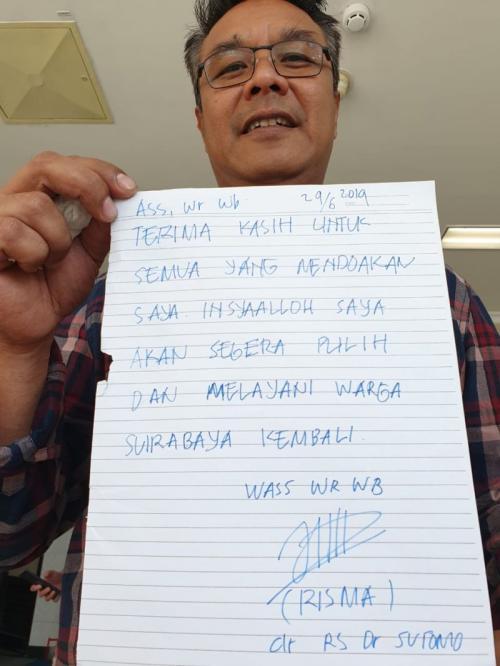 Wali Kota Surabaya Tri Rismaharini (Risma) Tulis Surat untuk Mengabarkan Kondisi Kesehatannya kepada Publik (foto: Syaiful Islam/Okezone)