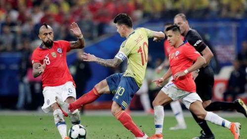 Arturo Vidal saat membela Timnas Cile