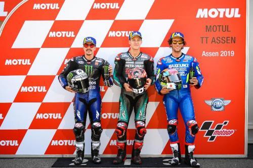 Alex Rins di Podium MotoGP 2019