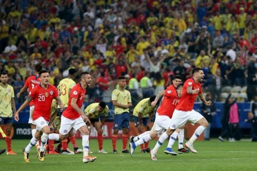 Cile saat kalahkan Kolombia