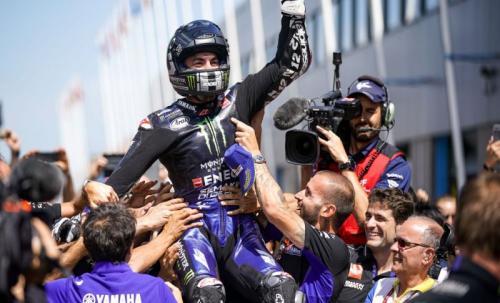Maverick Vinales senang akhirnya bisa menang balapan lagi