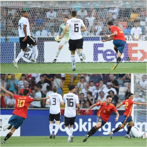 Suasana laga final Piala Eropa U-21 2019 antara Spanyol vs Jerman