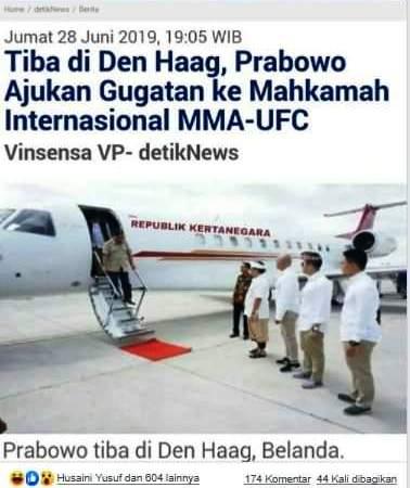 Hoax Prabowo