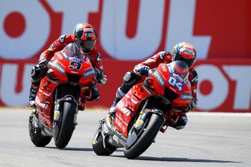 Dua pembalap Mission Winnow Ducati, Danilo Petrucci dan Andrea Dovizioso