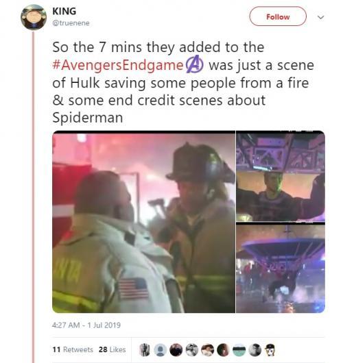 Seorang netter menyebut bonus adegan dalam Avengers Endgame tidak penting. (Foto: Twitter)