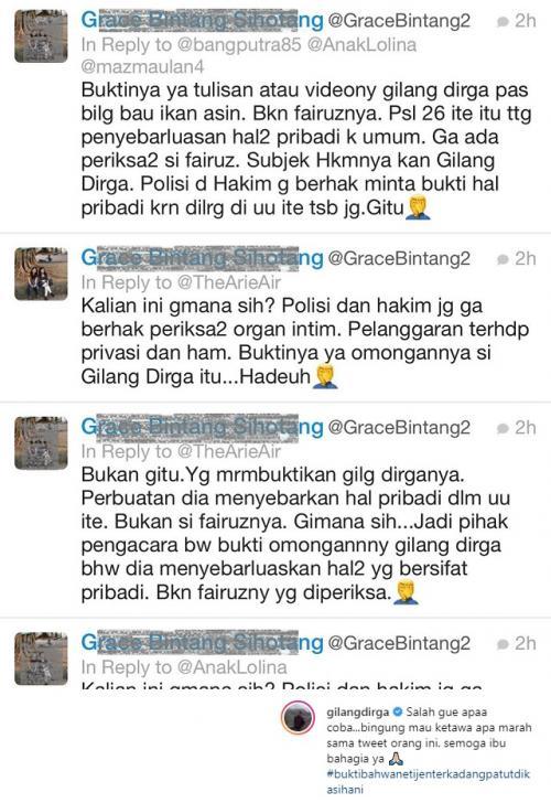 Gilang Dirga mengeluhkan kesalahan penulisan namanya dalam cuitan seorang netizen terkait kasus Galih Ginanjar. (Foto: Instagram)