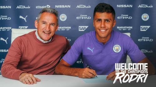 Rodri resmi jadi pemain Manchester City