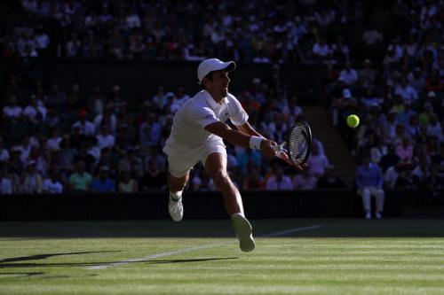 Novak Djokovic tampil di Wimbledon 2019