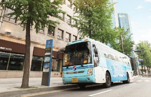 Ilustrasi Bus di Korea Selatan