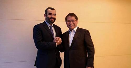 Menkominfo Rudiantara bersama Menteri Komunikasi dan TIK Kerajaan Arab Saudi, Abdullah Alswaha