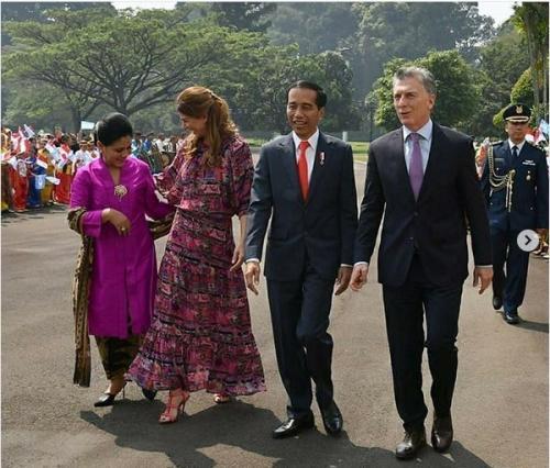 Iriana Jokowi Menerima Presiden Argentina dan Istri