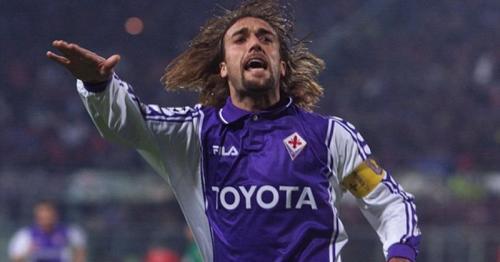 Gabriel Batistuta saat membela Fiorentina
