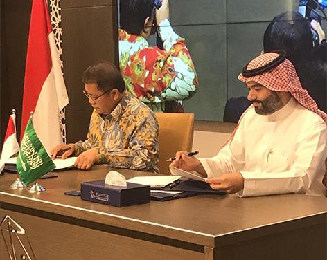 Menkominfo mengunjungi KACST usai menandatangani nota kesepahaman dengan pemerintah Arab Saudi