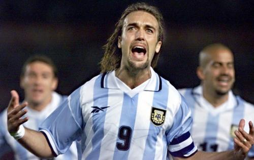 Gabriel Batistuta saat membela Timnas Argentina