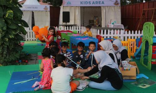 Khusus Kids Area ini dapat dinikmati pengunjung cilik tanpa membayar. (Foto: Okezone/Rena Pangesti)