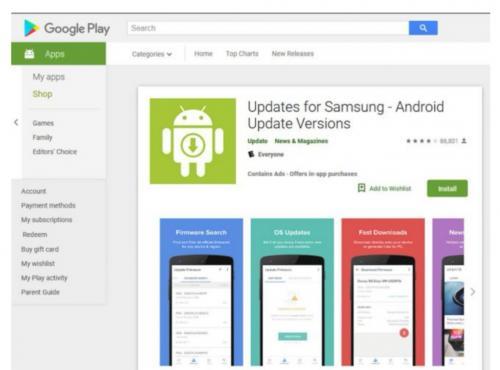 Aplikasi Samsung palsu, korbanya 10 juta pengguna