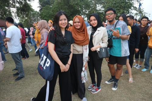 Penonton Prambanan Jazz Festival