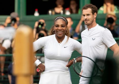 Andy Murray/Serena Williams (Foto: @wimbledon/Twitter)