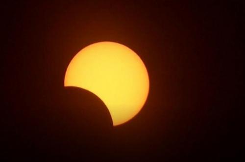 Satelit China Menangkap Gerhana Matahari yang Menakjubkan