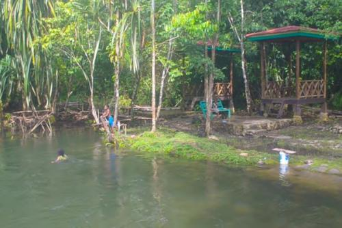 Lokasi wisata air terjun yang letaknya di kampung Sasnek, Kecamatan Sawiat,  Kabupaten Sorong Selatan ini sangat memukau.