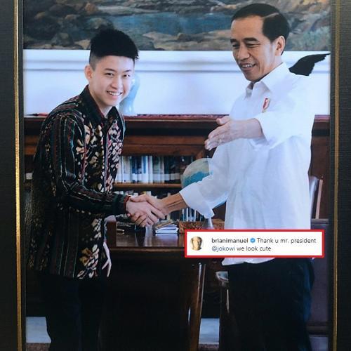Rich Brian saat bertemu Jokowi