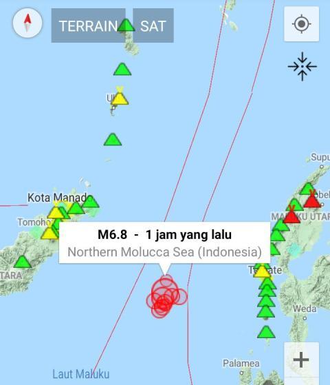 Gempa M7,0 Ternate. (Foto: Ist)