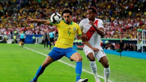 Laga Timnas Brasil vs Peru