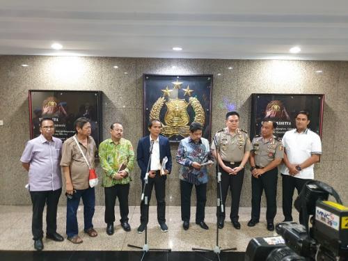 Konferensi pers terkait berakhir Tim Gabungan kasus Novel Baswedan (foto: Putera/Okezone)