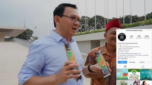 Ahok di-endorse tukang kerak telor (Foto: Youtube)