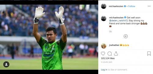 Essien beri dukungan ke Deden melalui instagram