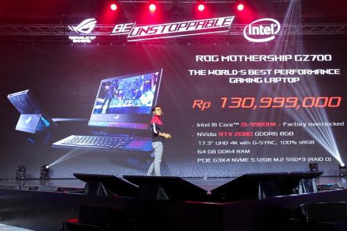Asus telah mengumumkan laptop gaming terbaru Republic of Gamers (ROG) Mothership yang diklaim memiliki desain revolusioner.