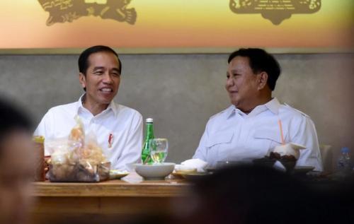 Jokowi dan Prabowo makan siang bersama di Senayan (Foto: Muchlis/Biro Pers Kepresidenan)