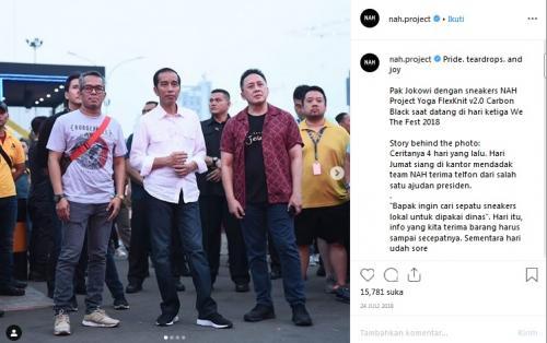 Cerita di Balik Sneakers Jokowi