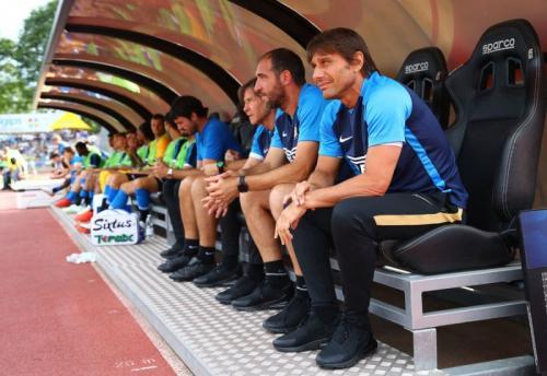 Antonio Conte mendampingi Inter Milan dalam laga pramusim (Foto: Situs resmi Inter Milan)