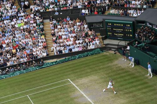 Pertandingan di Wimbledon