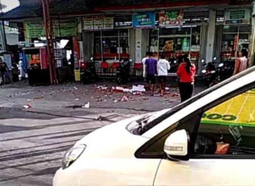 Dampak gempa Bali di kawasan Ungasan. (Foto: Twitter @boengsoe_)