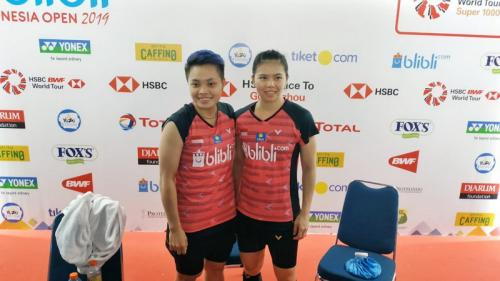 Greysia/Apriyani di ajang Indonesia Open 2019