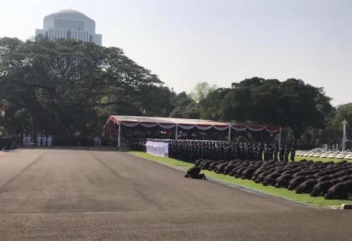 Sebanyak 781 perwira TNI-Polri dilantik di Istana Merdeka. (Foto: Fakhrizal Fakhri/Okezone)