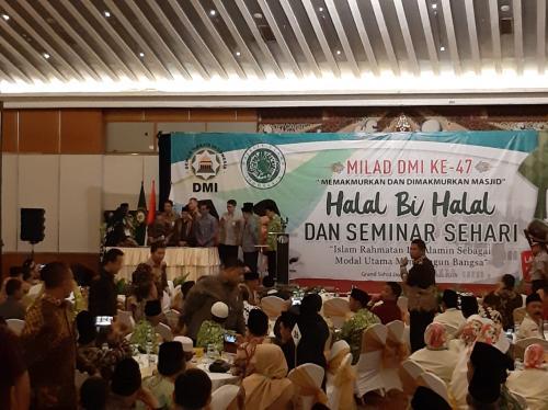 Halal Bi Halal dan Seminat Milad DMI Ke-47 (Foto: Fahreza R/Okezone)