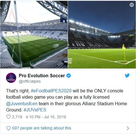 Juventus kerja sama dengan PES (Foto: Twitter/@officialpes)