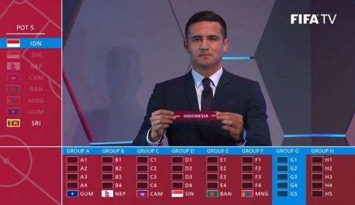 Timnas Indonesia masuk Grup G Kualifikasi Piala Dunia 2022 Zona Asia (Foto: FIFATV/Youtube)