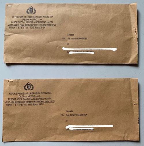 Surat Panggilan Rius Vernandes