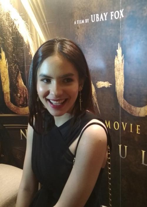 Steffi Zamora mengungkapkan, sempat ketempelan saat syuting film Uka-Uka: Nini Tulang di Bandung. (Foto: Okezone/Hana Futari)