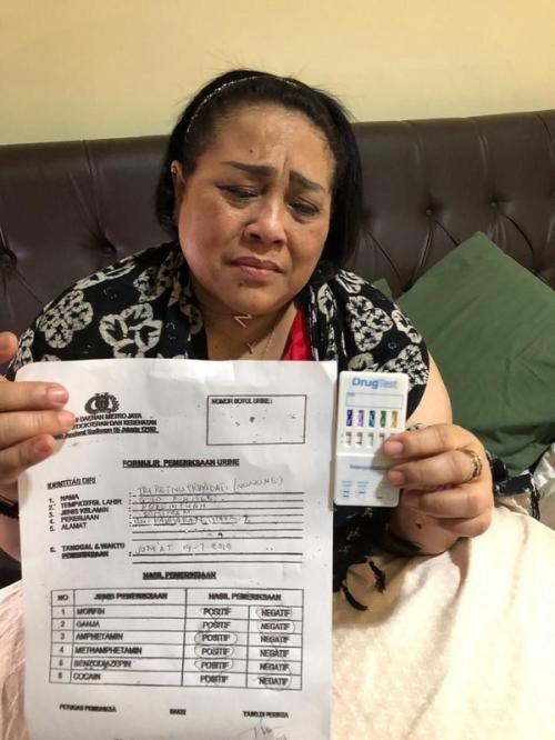 Nunung diamankan atas kepemilikan sabu pada Jumat (19/7/2019).