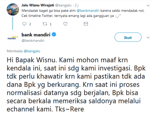 Saldo Bank Mandiri