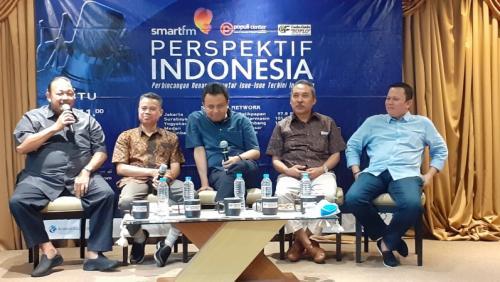 Diskusi bertajuk Golkar Bergolak Lagi di kawasan Cikini, Jakarta Pusat, Sabtu (20/7/2019). (Foto : Sarah Hutagaol/Okezone)